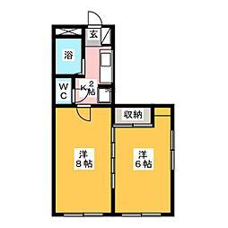 ビルドU3[2階]の間取り
