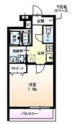 Osaka Metro御堂筋線 江坂駅 徒歩10分の賃貸アパート 1階1Kの間取り