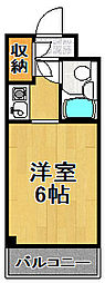 ビバリーヒルズ泉尾[8階]の間取り