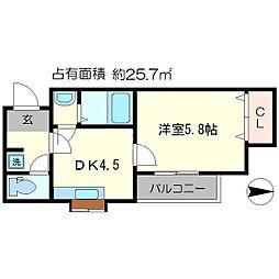ハイツ浄土寺[2階]の間取り
