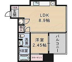 北大阪急行電鉄 桃山台駅 徒歩8分の賃貸マンション 3階1DKの間取り