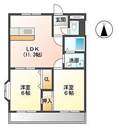 ヴィラNAKAGAWA[1階]の間取り