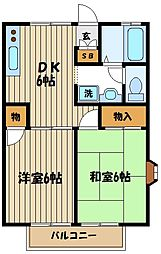 コーポトミーI[2階]の間取り
