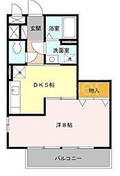 大阪府堺市北区長曽根町の賃貸アパートの間取り