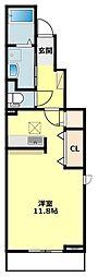 JR東海道本線 岡崎駅 徒歩28分の賃貸アパート 1階1Kの間取り