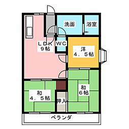 シャトー橘I[1階]の間取り