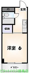 南昭和町 1K[302号室]の間取り