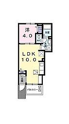 伊予鉄道高浜線 古町駅 徒歩6分の賃貸アパート 1階1LDKの間取り