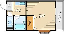 シティ・ライフ長田[3階]の間取り