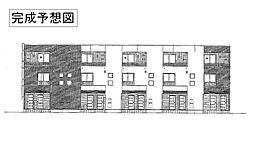 滋賀県甲賀市水口町虫生野の賃貸アパートの外観
