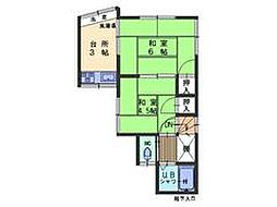 広島県呉市吾妻2丁目の賃貸アパートの間取り