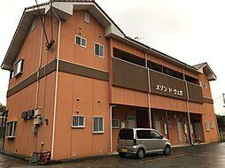 福岡県飯塚市伊岐須の賃貸アパートの外観