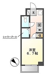 N.S.ZEAL東別院[10階]の間取り