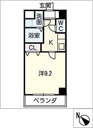 プリミエール矢田[2階]の間取り