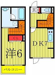 都営三田線 千石駅 徒歩6分の賃貸マンション 1階1DKの間取り