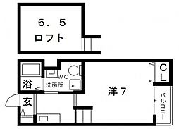 フローレス壱番館[2階]の間取り