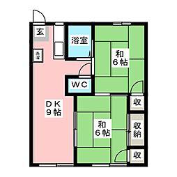 ライトハウス青江[1階]の間取り