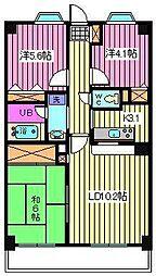 ブライトンコート[3階]の間取り