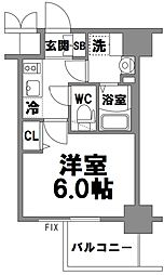 エスリード新大阪グランファースト[909号室]の間取り