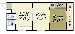 アーバンマンション[4階]の間取り