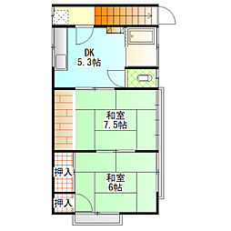 下村アパート[202号室]の間取り