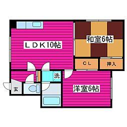 北海道札幌市東区北三十五条東2丁目の賃貸アパートの間取り