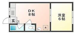 コーポ日総A[2階]の間取り