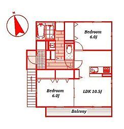メゾン[2階]の間取り
