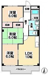 愛知県名古屋市南区豊2の賃貸マンションの間取り