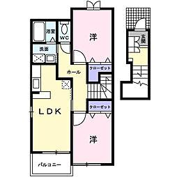 ドゥーボナールA[2階]の間取り