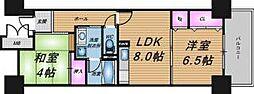 大阪府大阪市中央区法円坂1丁目の賃貸マンションの間取り