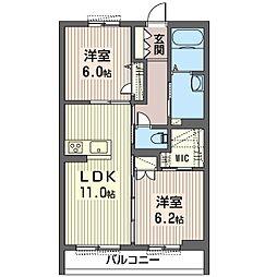 仮称 大行寺シャーメゾン[2階]の間取り