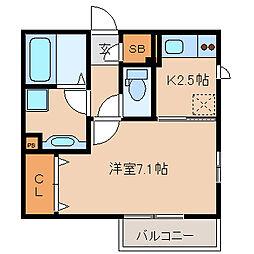兵庫県尼崎市元浜町2丁目の賃貸アパートの間取り