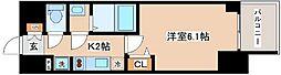 JR山陽本線 兵庫駅 徒歩10分の賃貸マンション 10階1Kの間取り