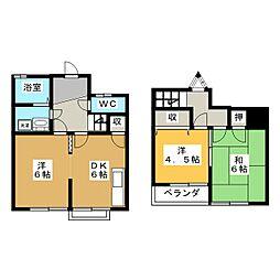 [テラスハウス] 愛知県一宮市三ツ井5丁目 の賃貸【/】の間取り