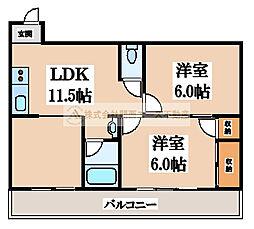 S&T nakamozu[4階]の間取り