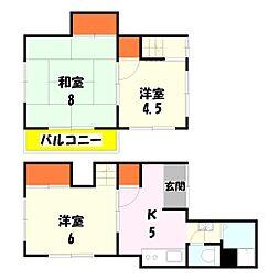 ツインハウス2[2号号室]の間取り