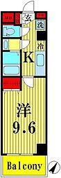 Sakura Building 6階1Kの間取り
