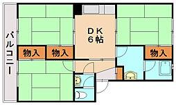 KS春日ハイツ[4階]の間取り