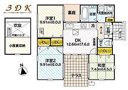 [一戸建] 東京都武蔵村山市残堀4丁目 の賃貸【/】の間取り