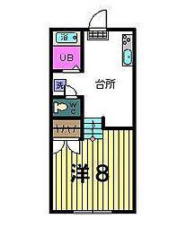 第三稲荷山ハイツ[1階]の間取り