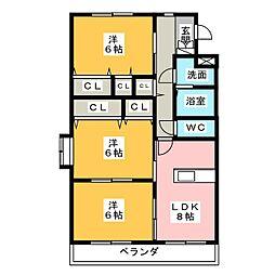ファームガーデン B[2階]の間取り