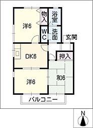 グランパビヨンII[2階]の間取り