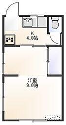木村荘[201号室]の間取り