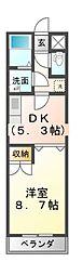 カスティール・イン・宇都宮[2階]の間取り