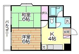 リバティハイツ平野[502号室]の間取り