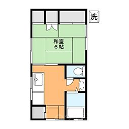 幸荘[1階]の間取り