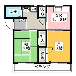 メゾン中沢[2階]の間取り
