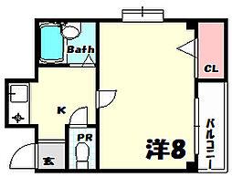 兼山マンション[4階]の間取り