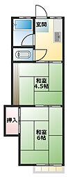 鈴木荘[208号室]の間取り
